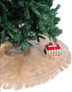burlap fringe tree skirt