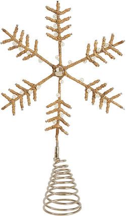 jute snowflake tree topper