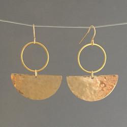 handmade crescent dangle earrings