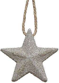 gold glitter star ornament