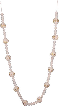 white felt ball garland