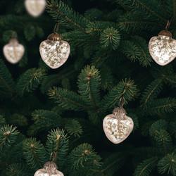 silver heart ornaments
