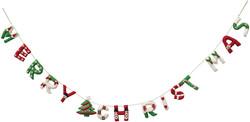 felt merry xmas banner