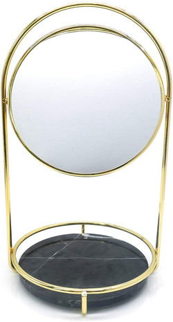 gold & marble mirror