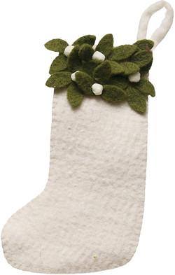 felt mistletoe stocking