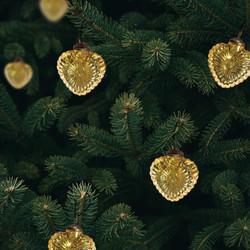 gold heart ornaments