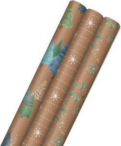 winter print wrapping paper
