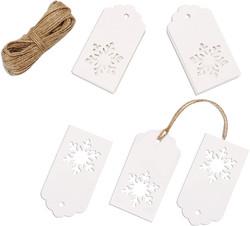 white snowflake gift tags