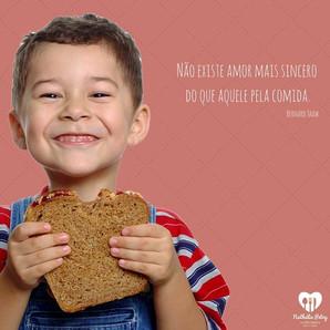 Não existe amor mais sincero do que aquele pela comida