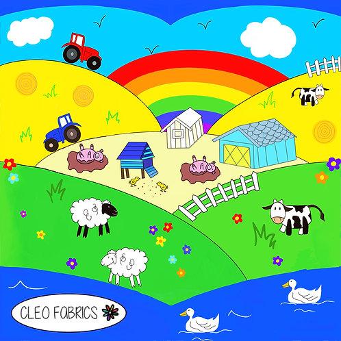 PRE ORDER 5m Farm Hills organic cotton jersey fabric