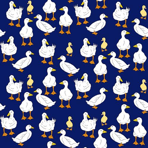 PRE ORDER 10m Ducks and Chicks organic cotton jersey fabric