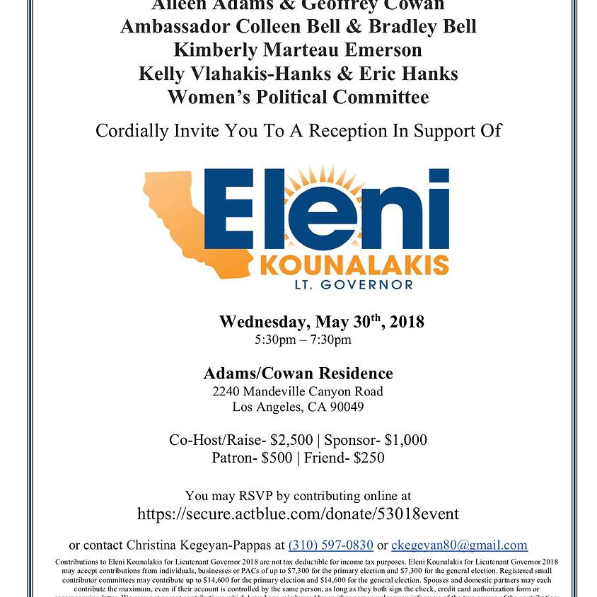 Amb. Eleni Kounalakis for Lt. Governor!