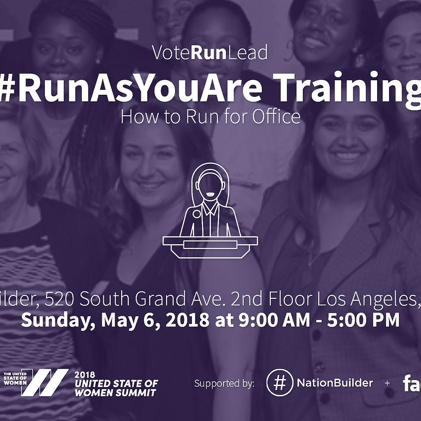 Vote Run Lead #RunAsYouAre Training