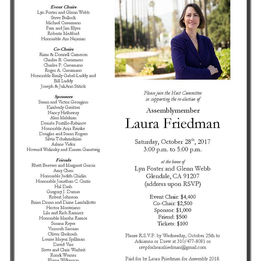Invitation to Support Laura Friedman