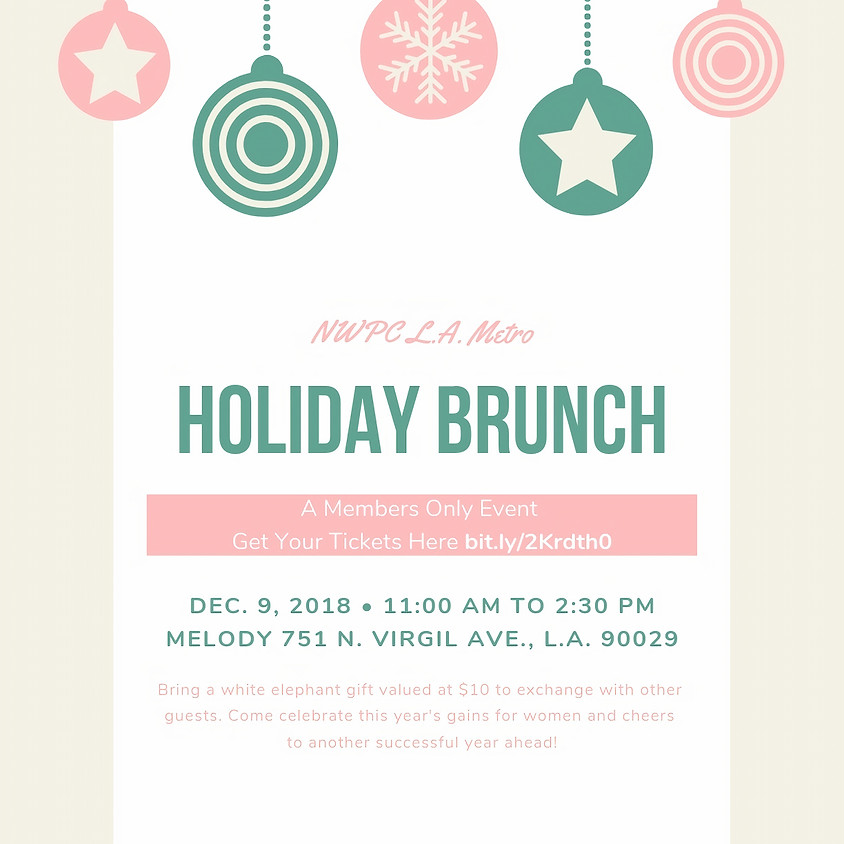 NWPC LA Metro Holiday Brunch -- Members Only