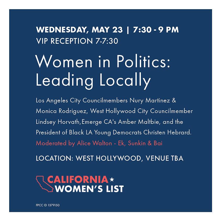 Women in Politics: Leading Locally