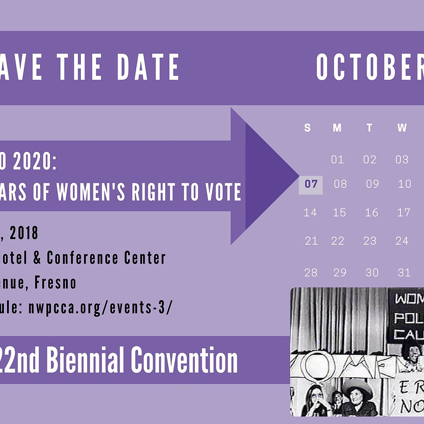 Save the Date! NWPC CA STATE CONVENTION!