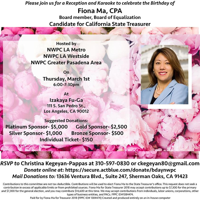 Karaoke Birthday Party Fundraiser for Fiona Ma