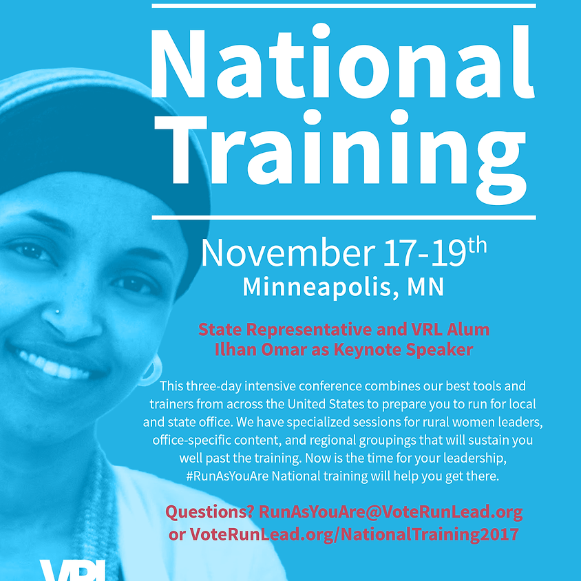 Run As You Are: National Training