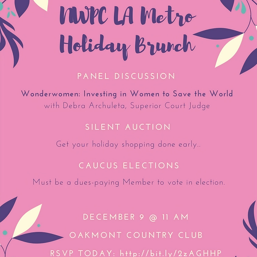 Holiday Brunch & Caucus Elections