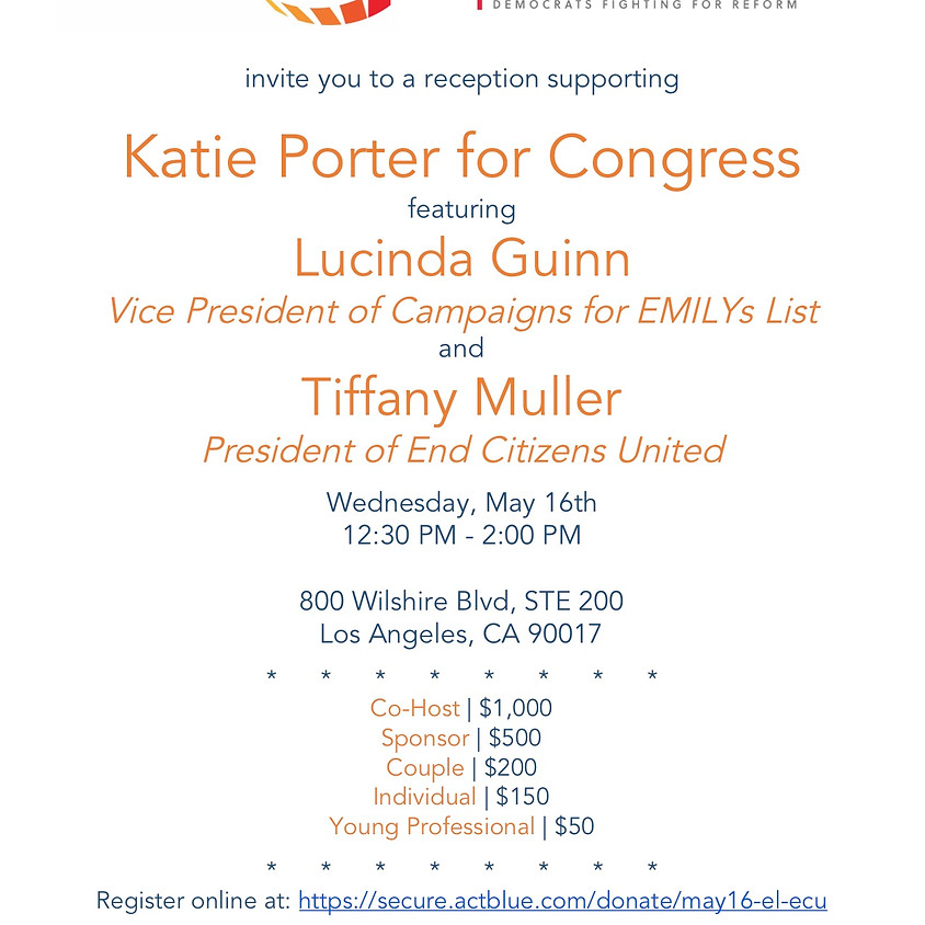 Katie Porter Fundraiser with Emily's List & End Citizen's United