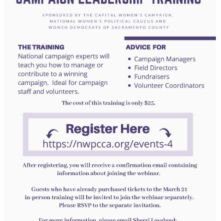 Campaign Leadership Training