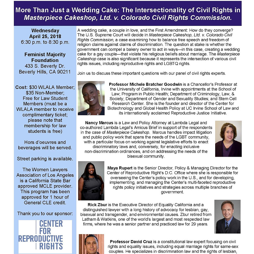 Women Lawyer's Assoc. of LA: More Than Just A Wedding Cake Panel
