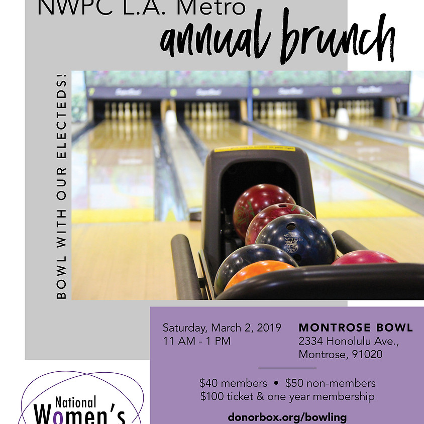 Annual Brunch: Bowling with Our Electeds