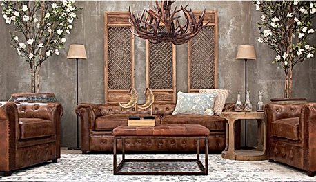 Ambient sofa piel, Casa Biaca