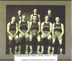 Wabash basketball team  1916-1917