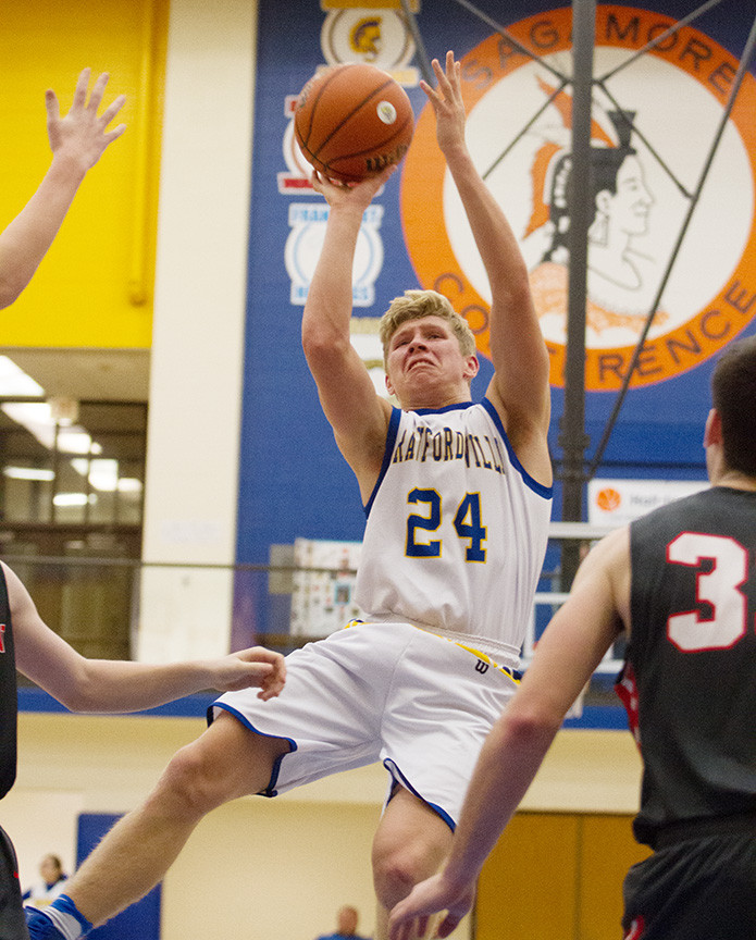 Trent Johnson scored a season-high 17 points as the Athenians won the County Title at home.