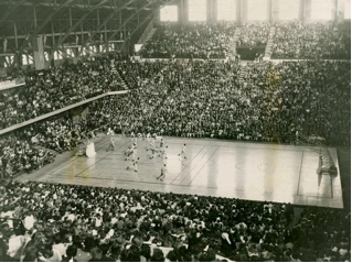 Inside Butler Fieldhouse in 1958