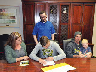 Harris signs with Franklin College