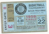 Ticket stub from 1958 State Finals