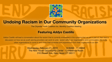 Undoing Racism in Our Community Organizations