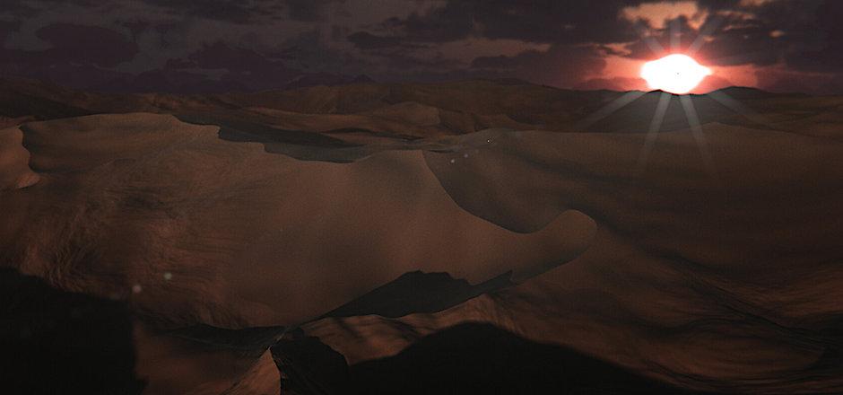The eye of the desert