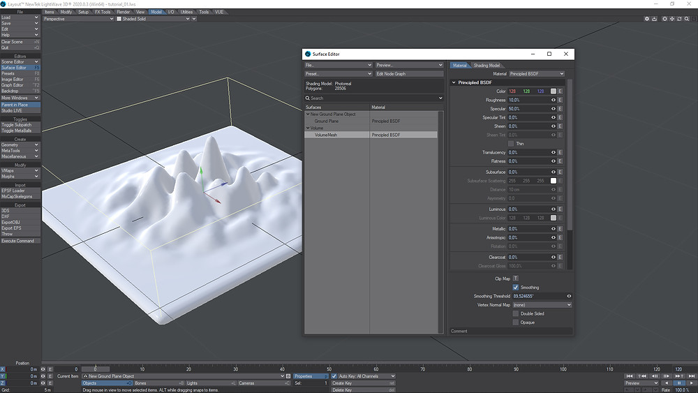 Check Smoothing to smooth the terrain.