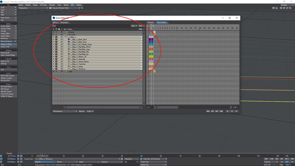 After the meshes are selected, the artist is ready to use the plugin.