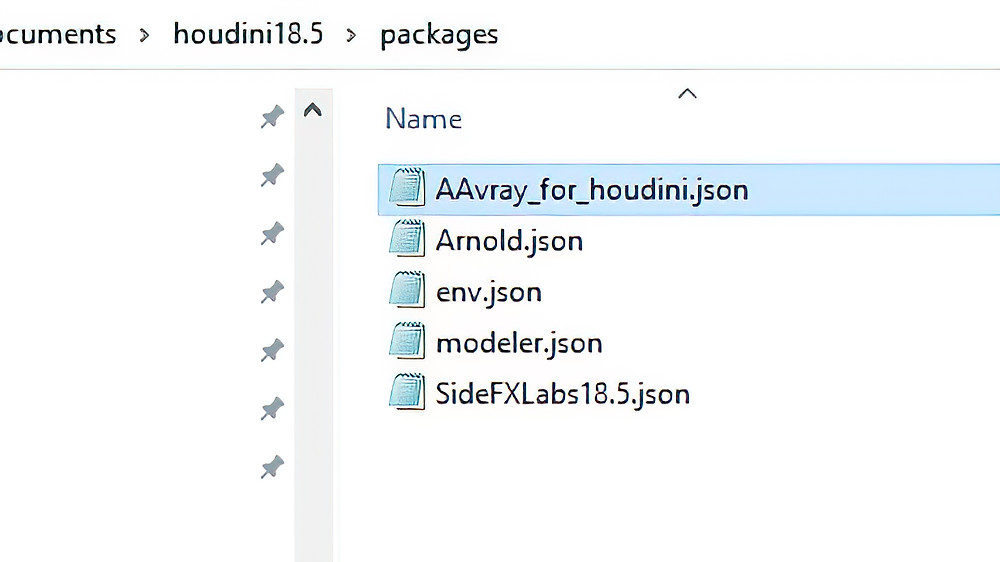 The V-ray 5 .json file renamed.