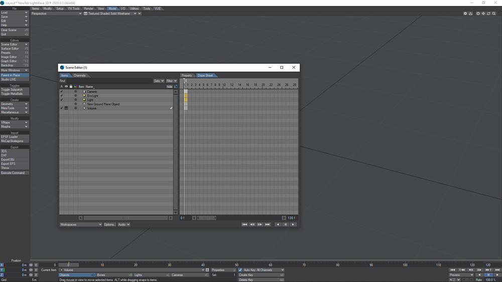 I hid the plane , camera and lights to clean up the viewport and easy the work.