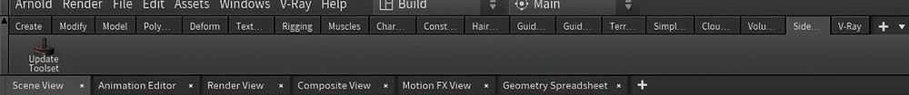 The SideFx labs without icons as if it hadn't being installed.