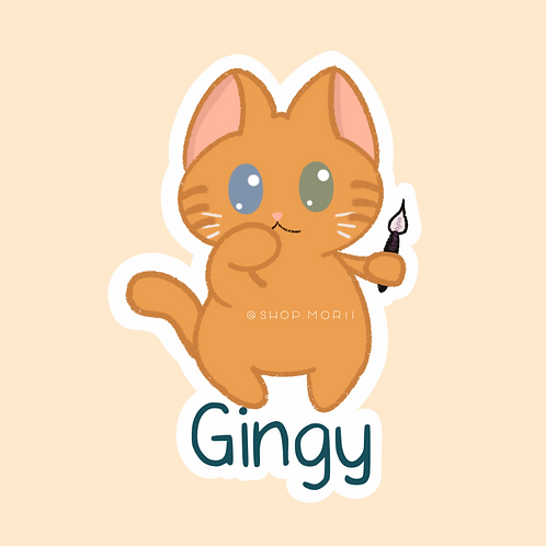 Gingy Cat Sticker (@paintsbytee)