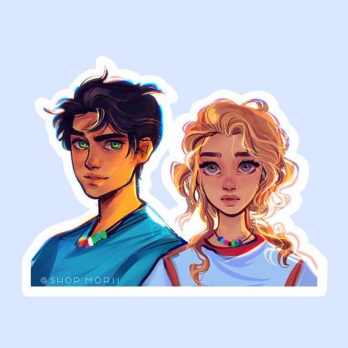 Percy and Annabeth Sticker (@smoustart)