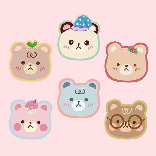 Bear Friends Sticker Pack (@_pandoodle)