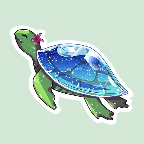 Cute Sea Turtle Sticker (@catface.exe)