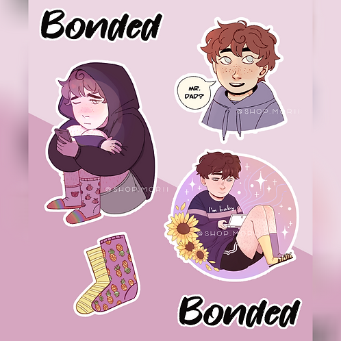 Bonded - Jacob Sticker Sheet (@littleblackpan)