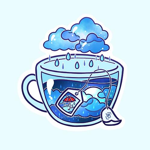 Rainy Day Tea Sticker (@heysoleilart)