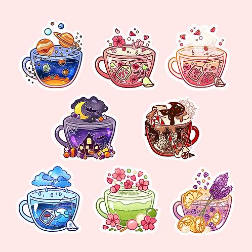 Teacups Sticker Pack (@heysoleilart)