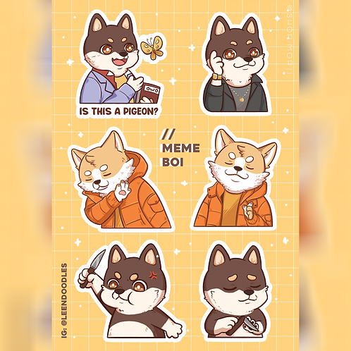 Meme Bois Sticker Sheet (@leendoodles)