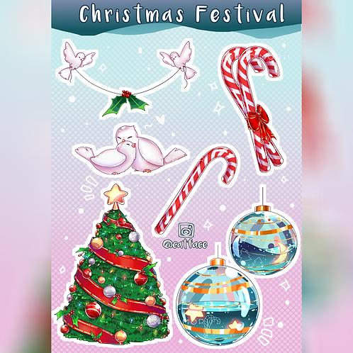 Christmas Sticker Sheet (@catface.exe)